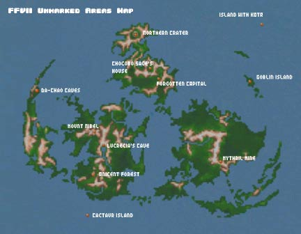 Eyes On Final Fantasy Maps - Unmarked map